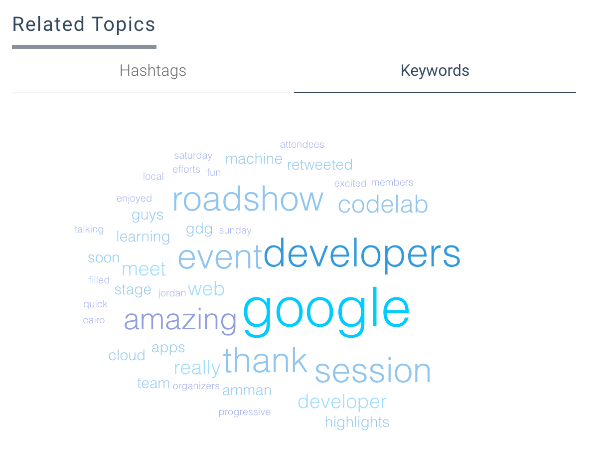 GDRMENA Cairo Stats - Top Related Keywords